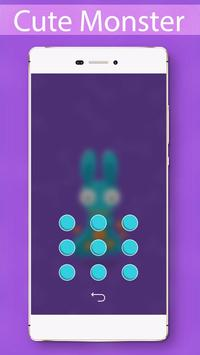 Cute Monster Locker Theme screenshot 2