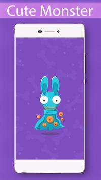 Cute Monster Locker Theme screenshot 3