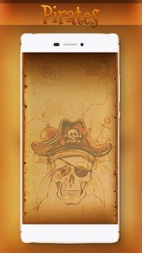Gold Treasure Pirates Locker Theme apk screenshot