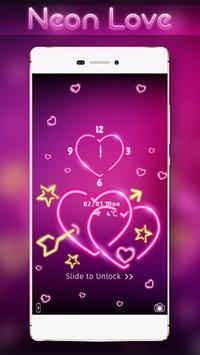 Neon Love Locker Theme poster