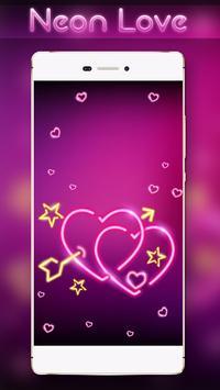 Neon Love Locker Theme apk screenshot
