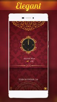 Gold Elegant Locker Theme poster