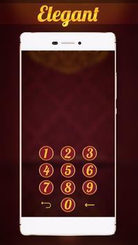 Gold Elegant Locker Theme apk screenshot