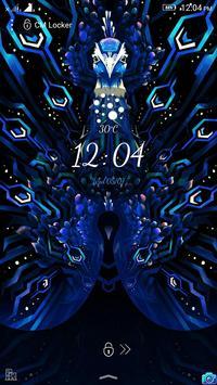 Peacock Art Lock Screen Theme poster
