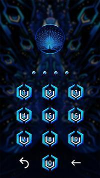 Peacock Art Lock Screen Theme apk screenshot