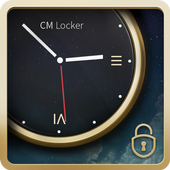Luxury Clock CM Locker Theme icon