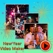 Happy New Year Photo Video Maker icon