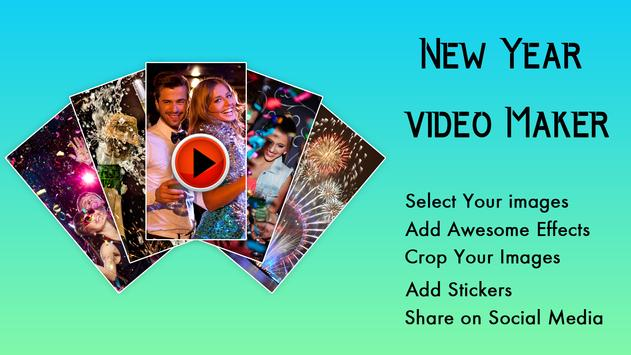 Happy New Year Photo Video Maker poster