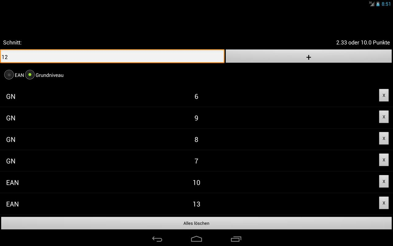 oberstufe notenschnitt rechner for android apk download. Black Bedroom Furniture Sets. Home Design Ideas