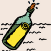 Message in a bottle (balm) icon