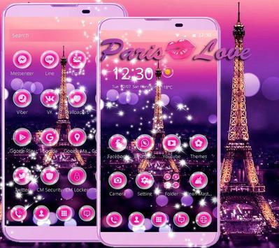 Dream Paris Eiffel tower Theme apk screenshot