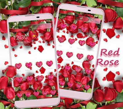 Red Rose Theme Wallpaper Red Roses Lock Screen screenshot 1