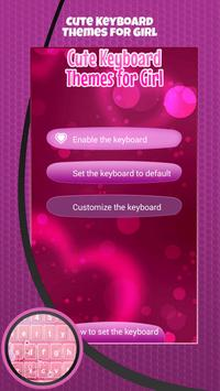 Cute Keyboard Themes for Girl poster