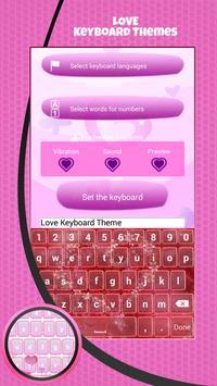 Love Keyboard Theme apk screenshot