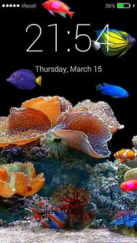 Aquarium Fish 3D Lock Screen screenshot 6