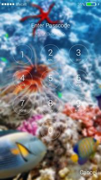 Aquarium Fish 3D Lock Screen screenshot 1