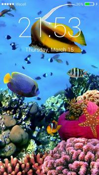 Aquarium Fish 3D Lock Screen screenshot 2