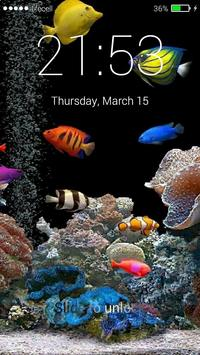 Aquarium Fish 3D Lock Screen screenshot 3