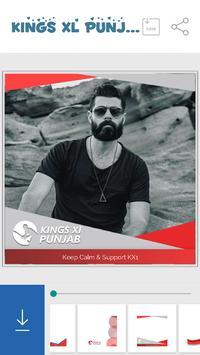 Support KXIP Team DP Maker apk screenshot
