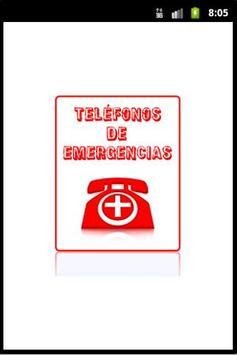 Teléfonos de Emergencias poster