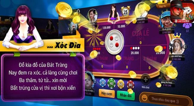AEGAME - Game bai doi thuong, Game bai tien len screenshot 1