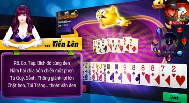 AEGAME - Game bai doi thuong, Game bai tien len screenshot 6