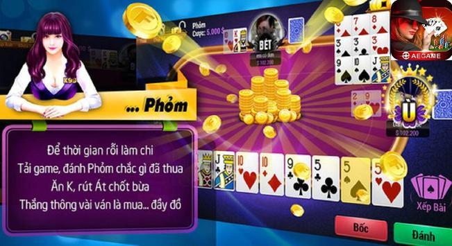 AEGAME - Game bai doi thuong, Game bai tien len screenshot 8