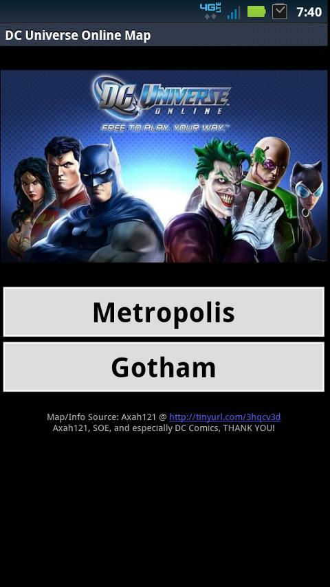 DC Universe Online Map for Android - APK Download