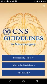 CNS Guidelines poster