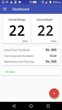 Bike Mileage : Costs, Reports and Reminders screenshot 1