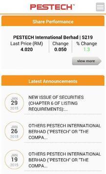 Pestech Investor Relations apk screenshot