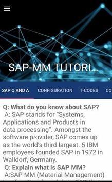 SAP MM Tutorial poster