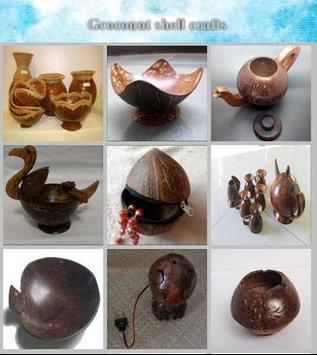 coconut shell crafts poster