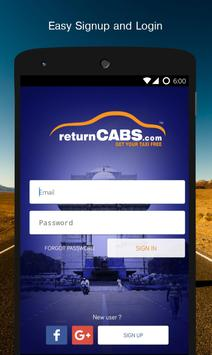 returnCABS -Get Your Taxi Free poster