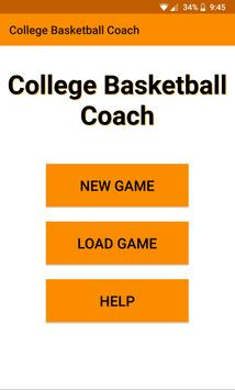 College Basketball Coach poster