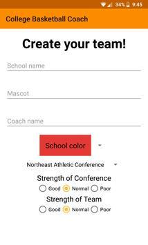 College Basketball Coach screenshot 1