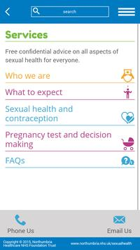 SH Northumbria NHS screenshot 2