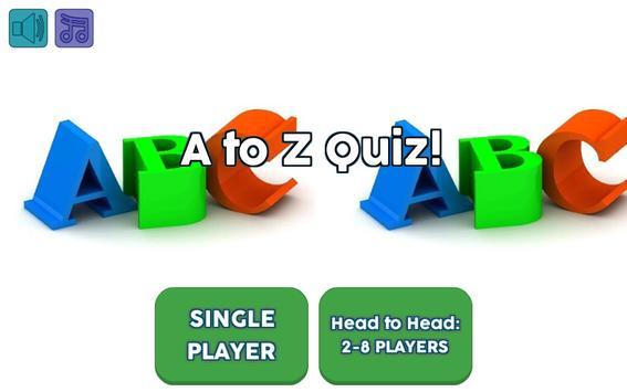A to Z Quiz apk screenshot