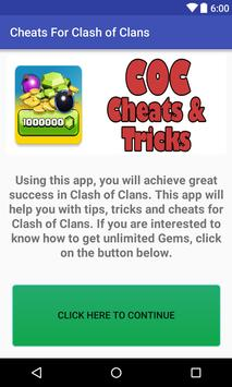 Cheats for Clash of Clans Gems poster