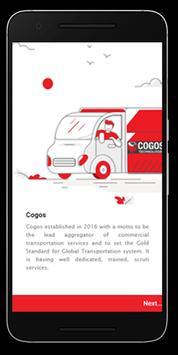 Cogos Customer App - Book a truck for your need. screenshot 1