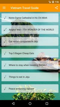 Vietnam Travel Guide poster