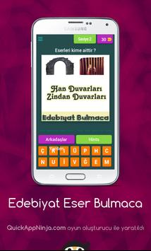 Edebiyat Eser Bulmaca poster