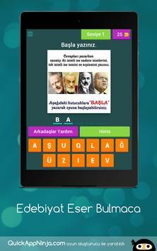 Edebiyat Eser Bulmaca screenshot 5