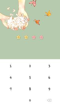카카오톡 테마 - 꽃과 소녀 screenshot 4