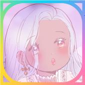 카카오톡 테마 - Silver Moon icon