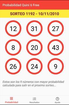 Probabilidad Quini 6 Free poster