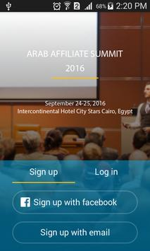 Arab Affiliate Summit poster