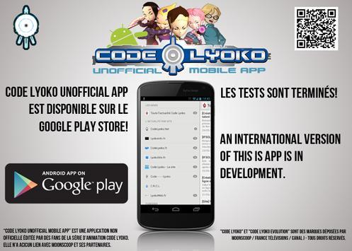 Code Lyoko Mobile App poster