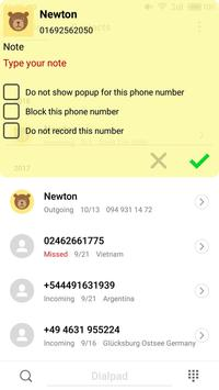 Note Call Recorder,  Call Recording تصوير الشاشة 2