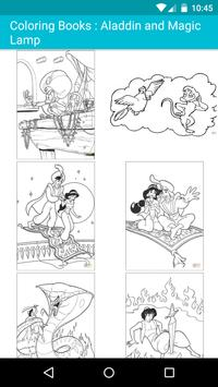 Cartoon Coloring Books For Kids : Aladdin poster